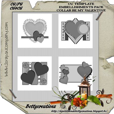 BE MY VALENTINES TEMPLATES