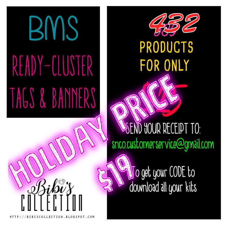 !LIMITED TIME BMS READY CLUSTER TAGS BIBIS COLLECTION