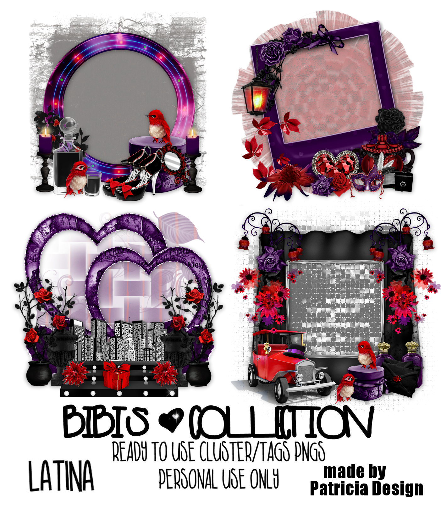 LATINA READY CLUSTER TAGS PNG BY PATRICIA