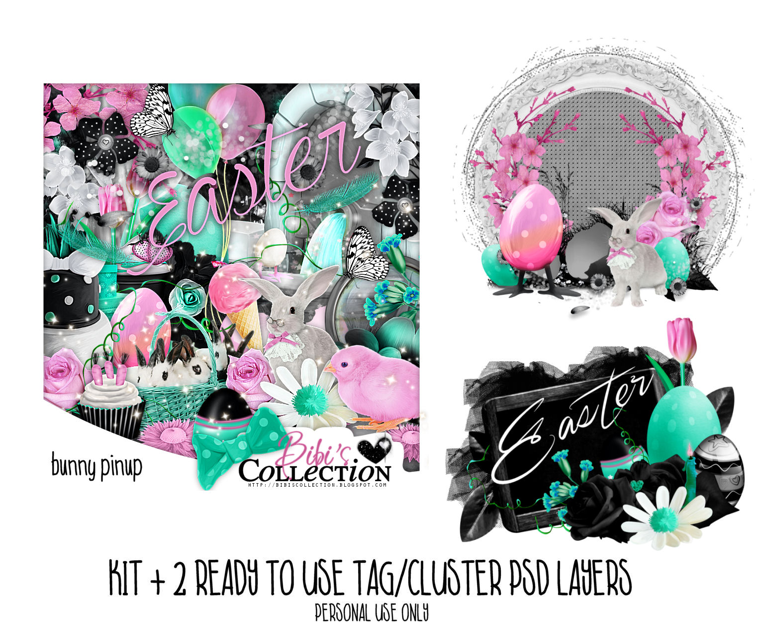 BUNNY PINUP + READY CLUSTER-TAGS