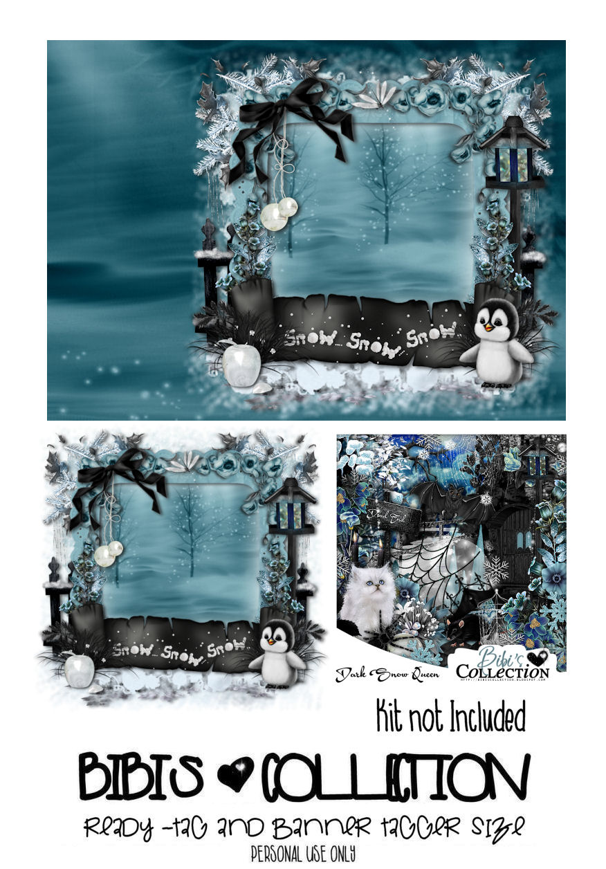 READY TAG AND BANNER-DARK SNOW QUEEN 2