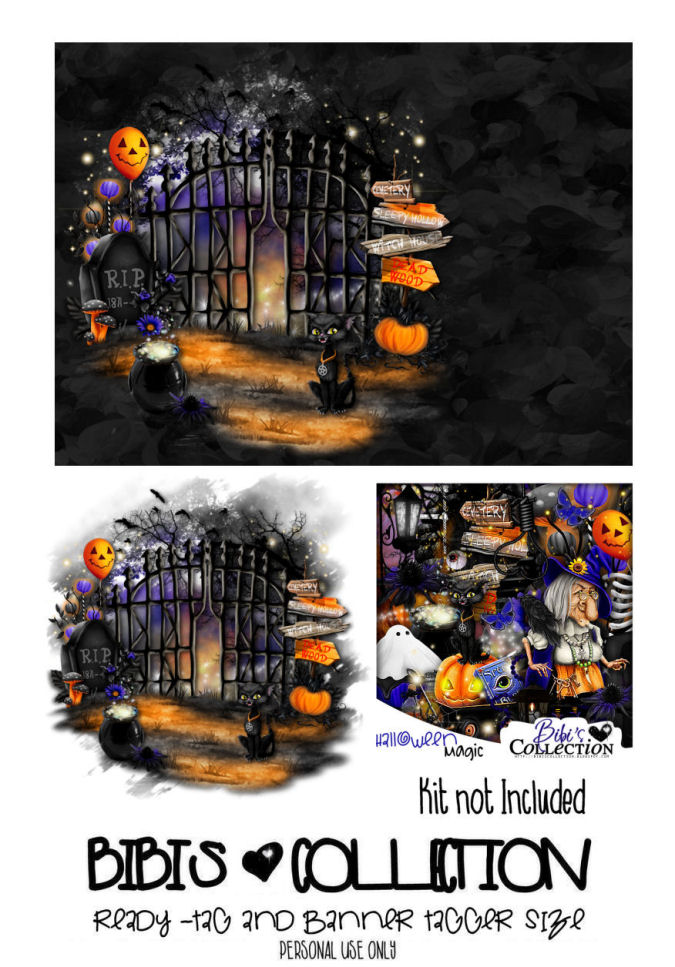READY TAG AND BANNER-HALLOWEEN MAGIC 1