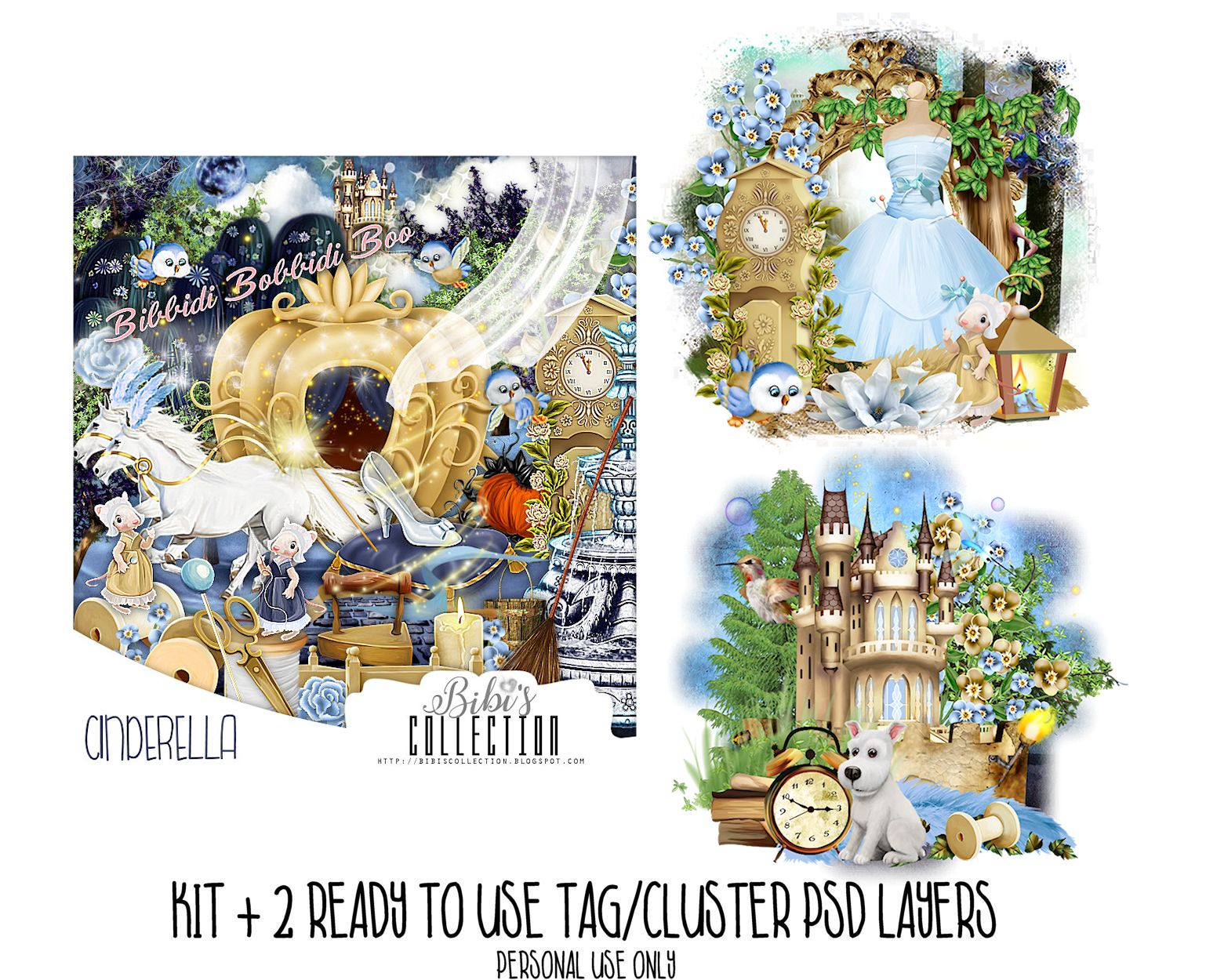 CINDERELLA KIT + READY CLUSTER TAGS