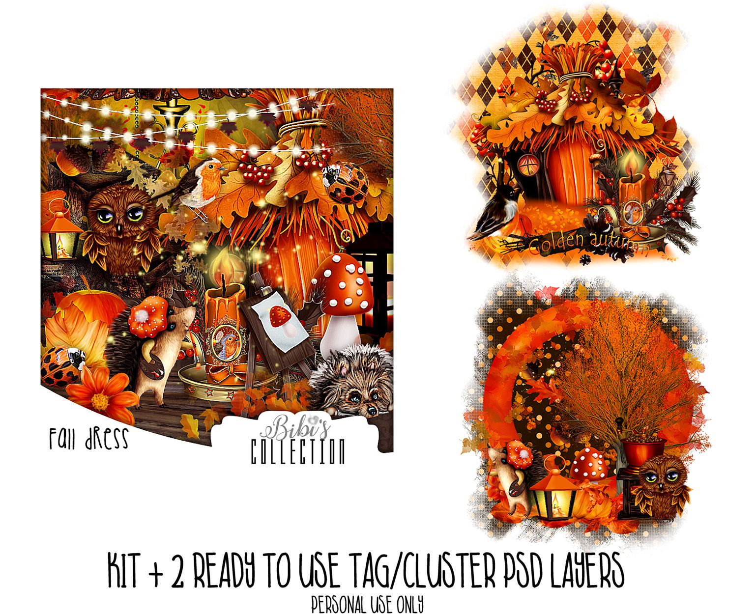 FALL DRESS +READY CLUSTER TAGS PSD