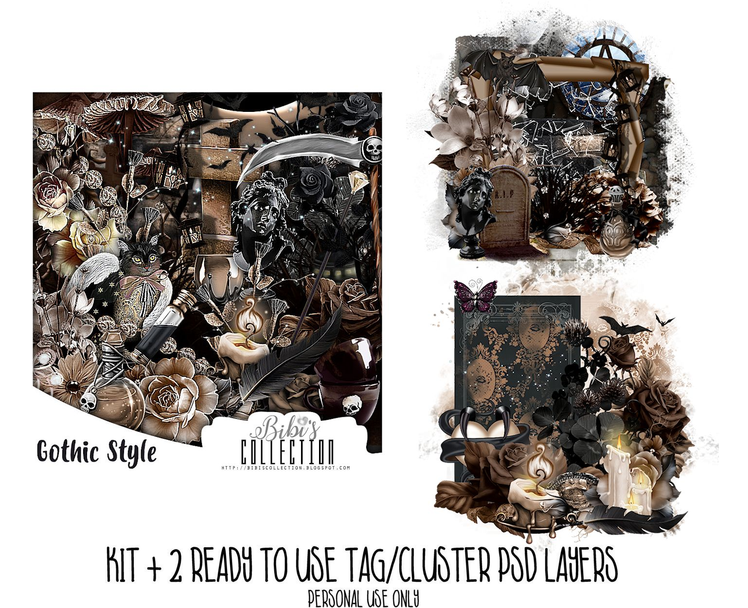 GOTHIC STYLE + READY CLUSTER TAGS PSD