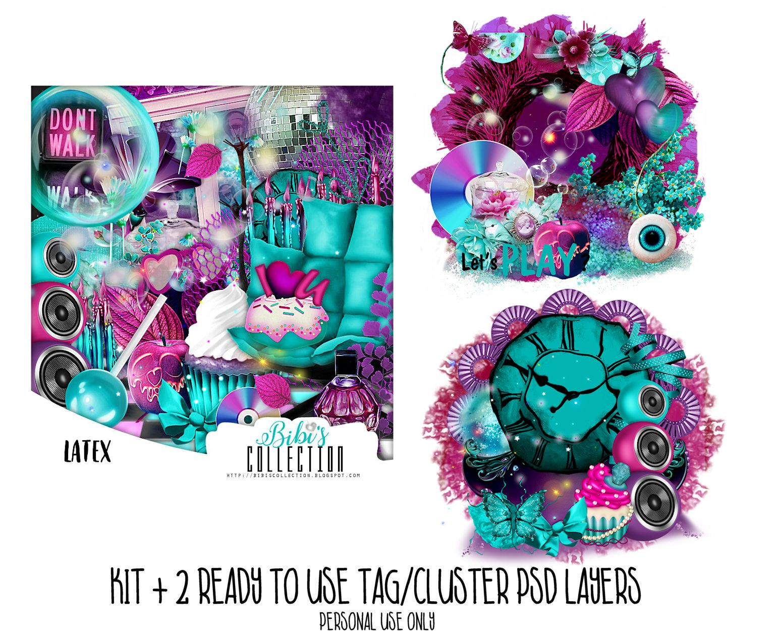 LATEX KIT +READY CLUSTER TAGS PSD