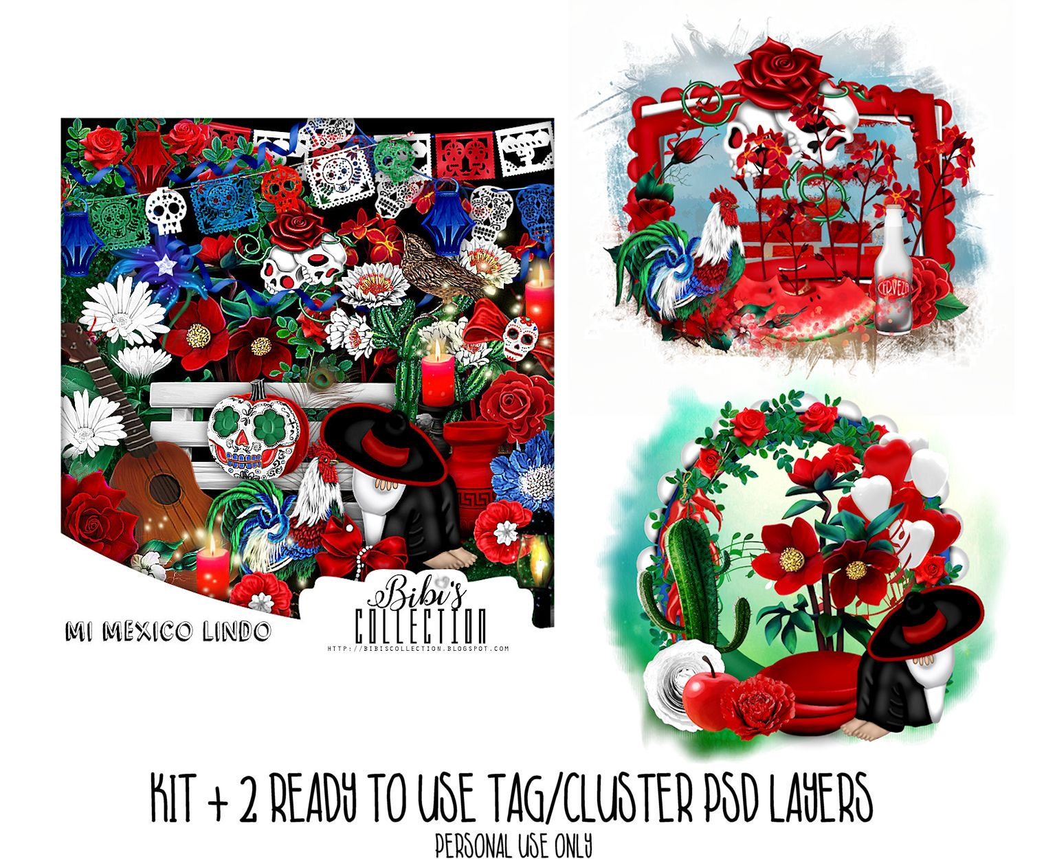 MEXICO LINDO +READY CLUSTER TAGS PSD