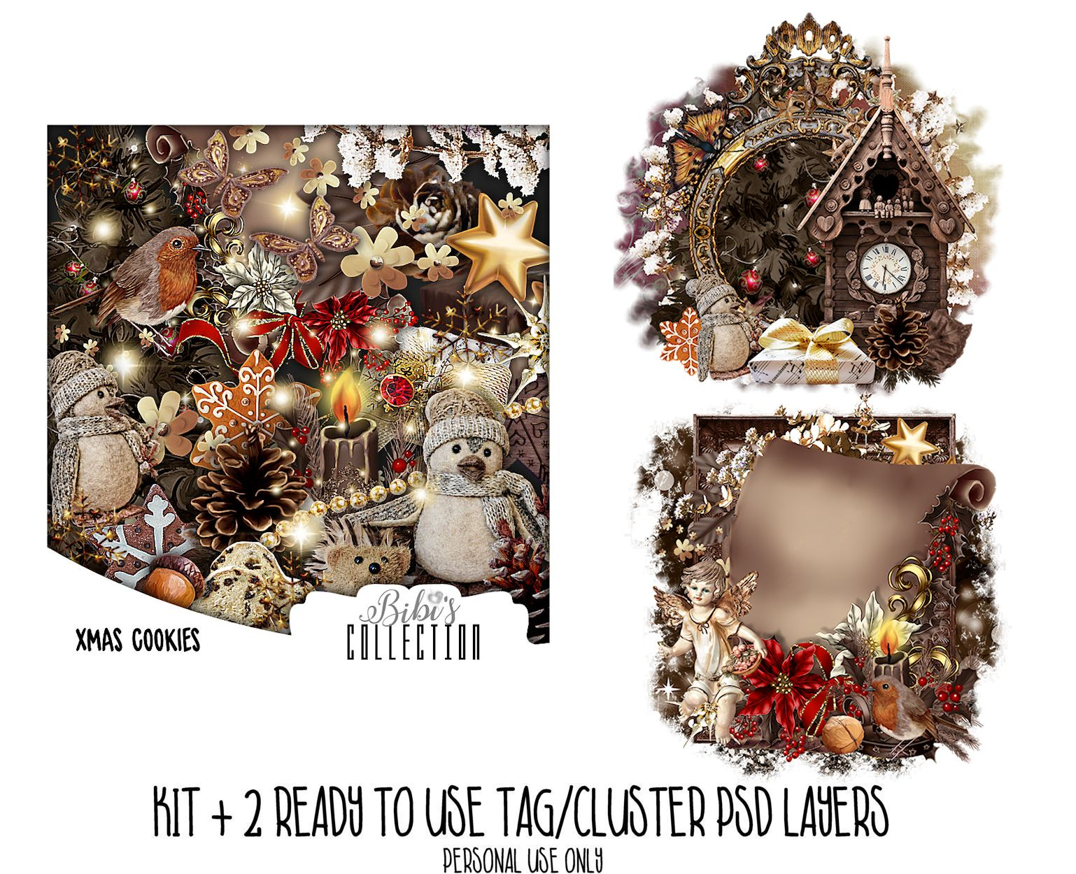 XMAS COOKIES +READY CLUSTER TAGS PSD