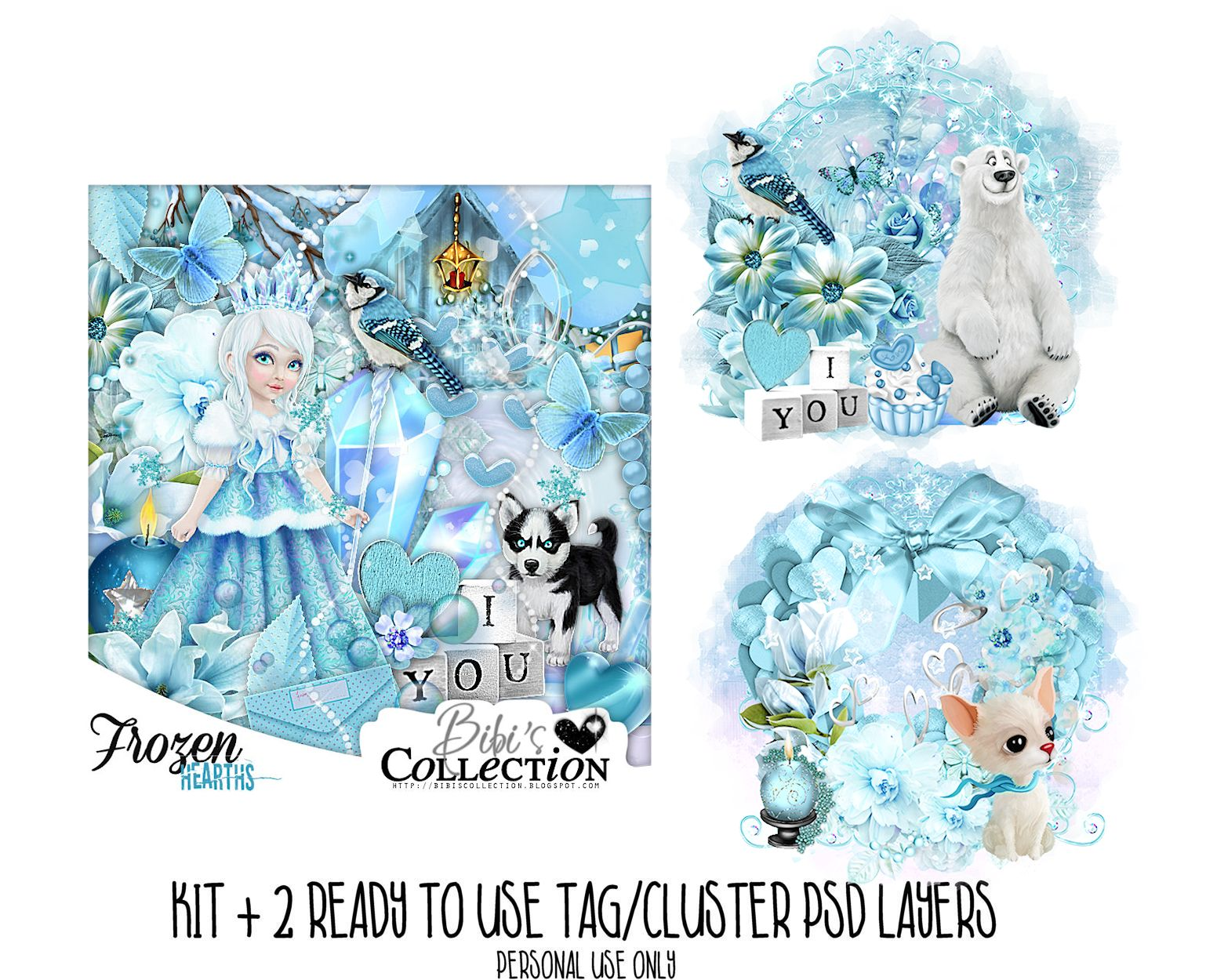FROZEN HEARTS + READY CLUSTER TAGS PSD