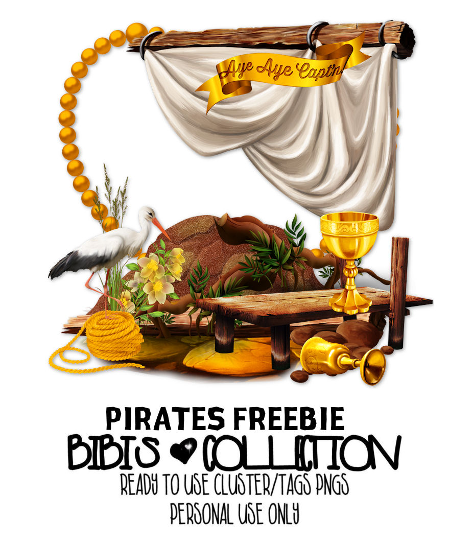 PIRATES FREEBIE READY CLUSTER TAGS PNG