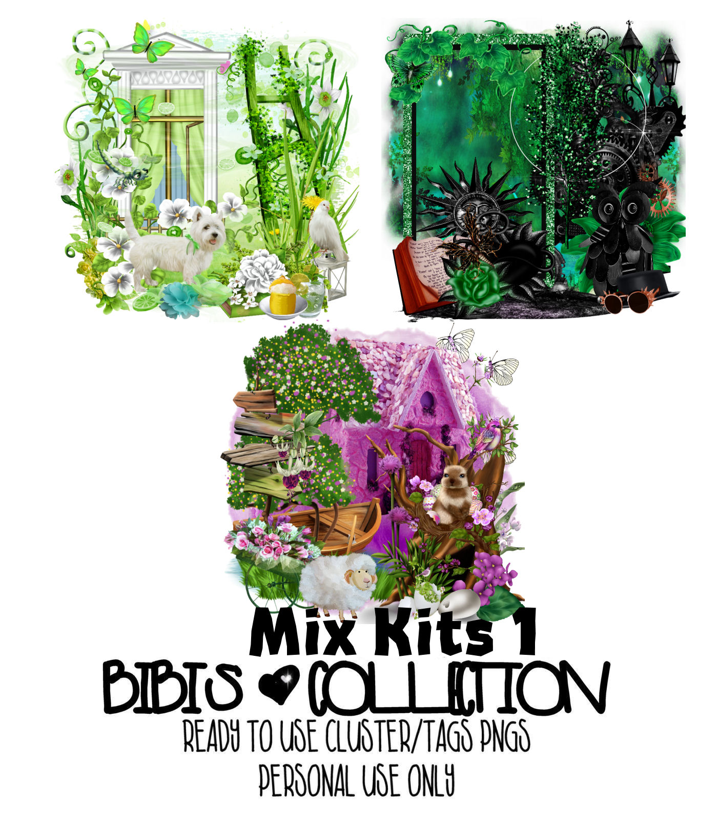 MIX KITS 1 READY CLUSTER TAGS PNG