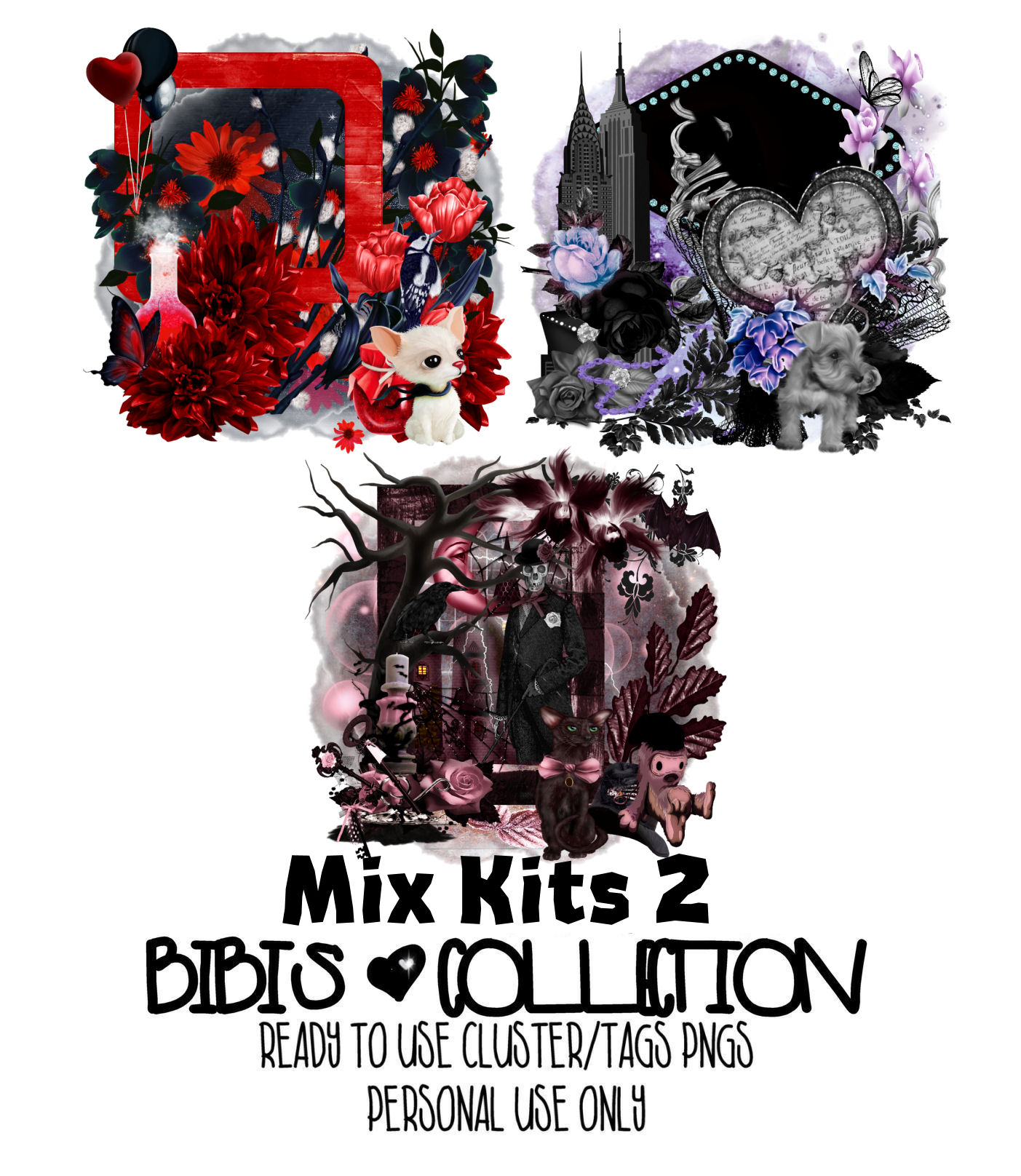 MIX KITS 2 READY CLUSTER TAGS PNG