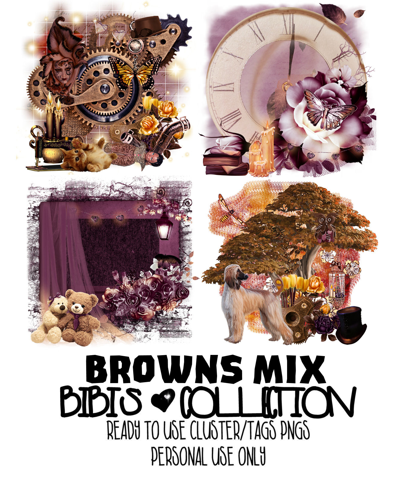 BROWNS MIX READY CLUSTER TAGS PNG