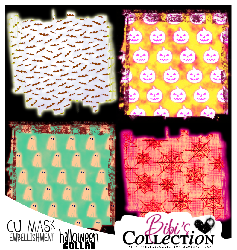 CU MASK EMBELLISHMENTS PACK HALLOWEEB COLLAB 2015 (8 MASKS)