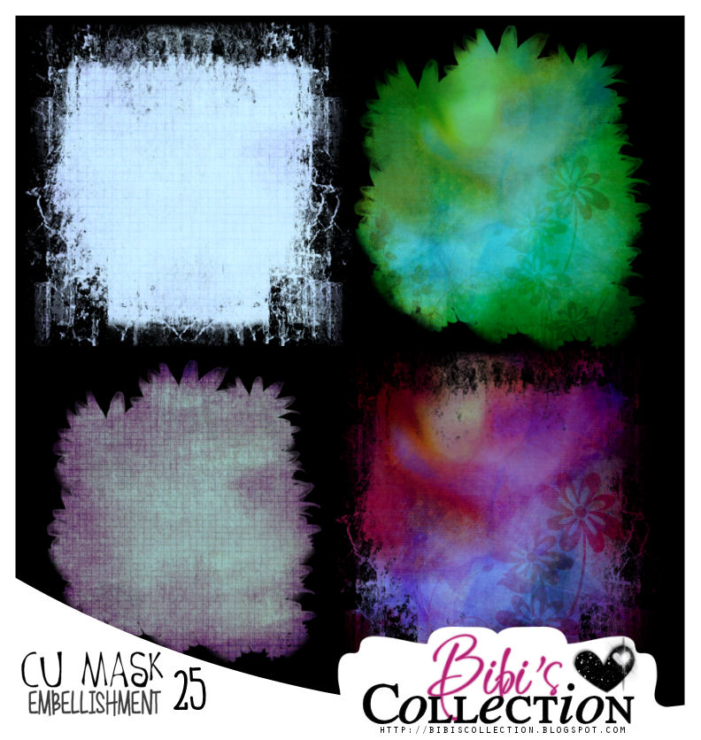CU MASK EMBELLISHMENTS PACK 25 (8 MASKS)