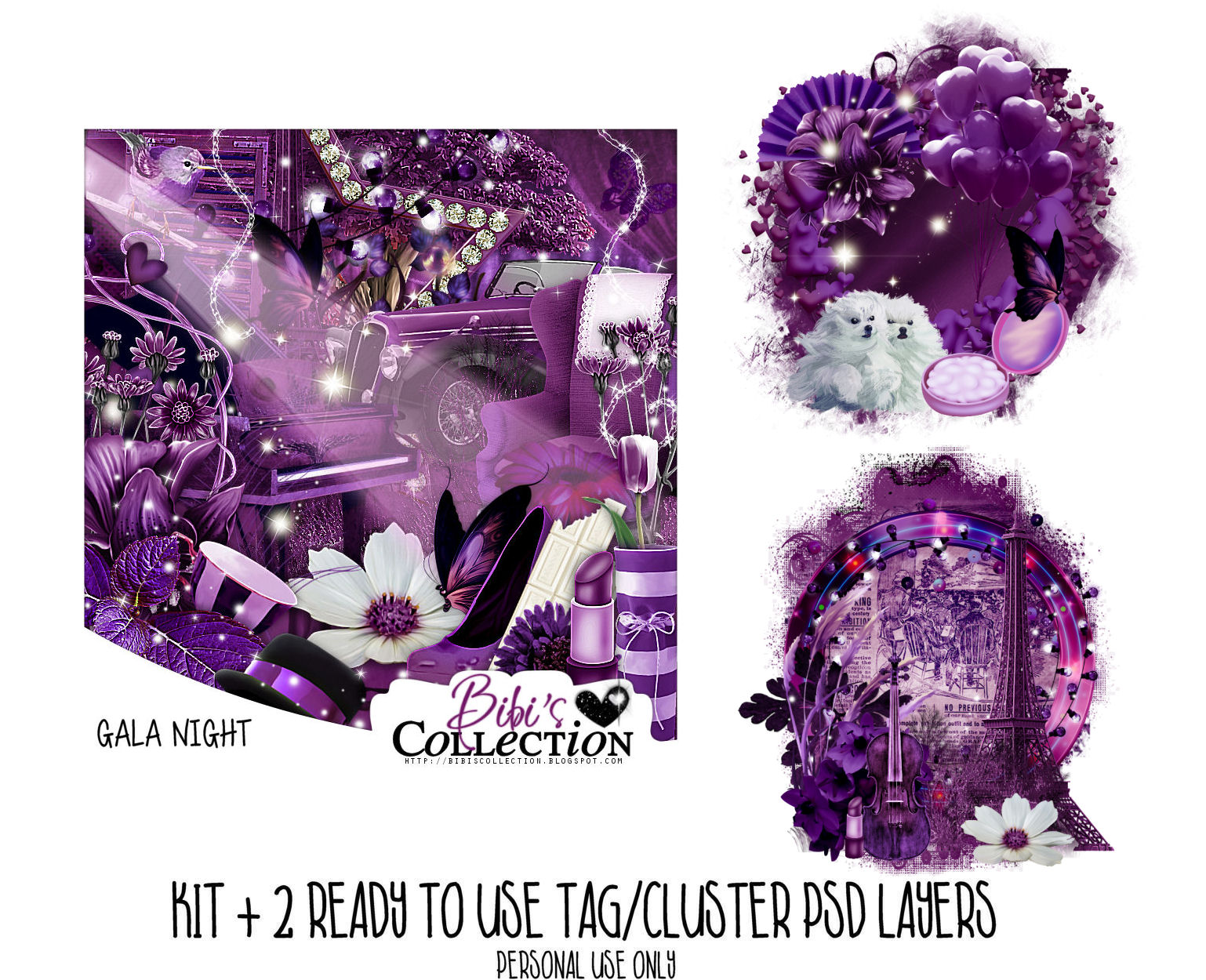 GALA NIGHT + READY CLUSTER TAGS PSDS