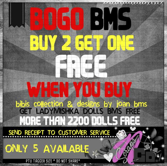 BOGO BMS BUY 2 GET ONE FREE