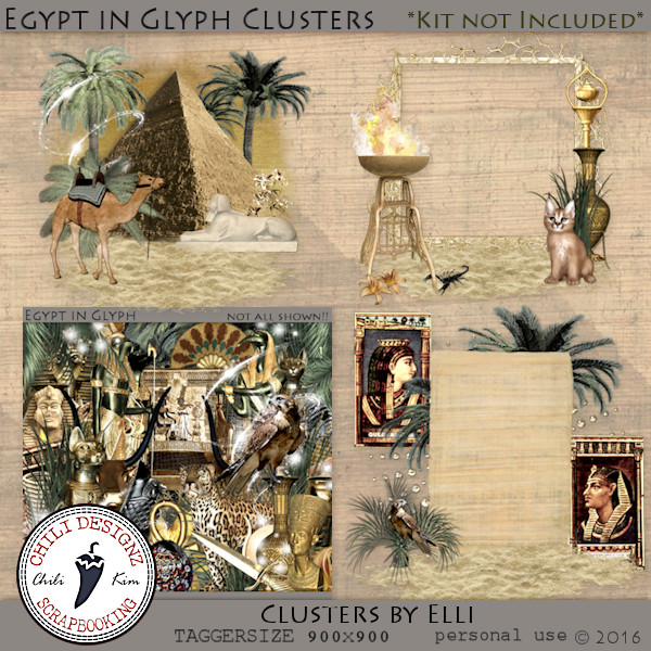 Egypt in Glyph Clusters