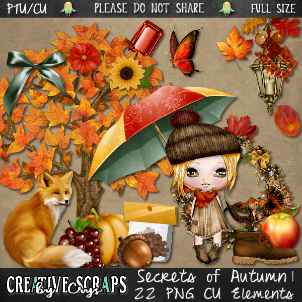 Secrets of Autumn CU Elements Pack 1