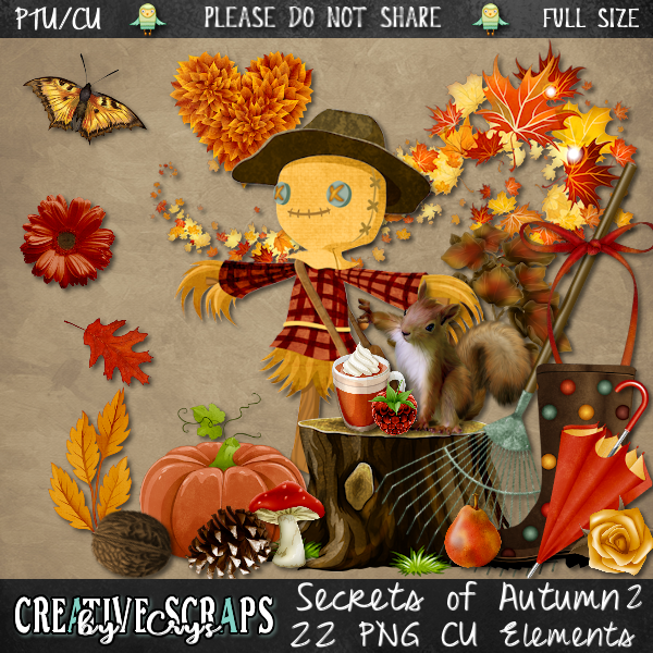 Secrets of Autumn CU Elements Pack 2