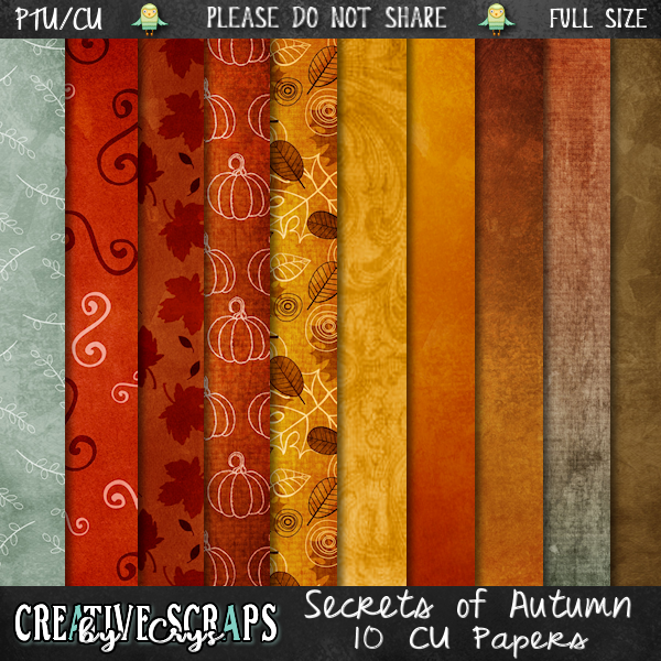 Secrets of Autumn Paper Pack CU