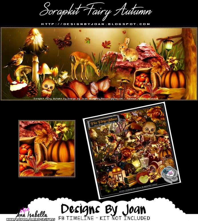 FREE FAIRY AUTUMN FB COVER BY ANA ISABELLA