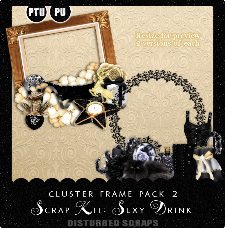 Cluster Frame Pack 2 - Sexy Drink