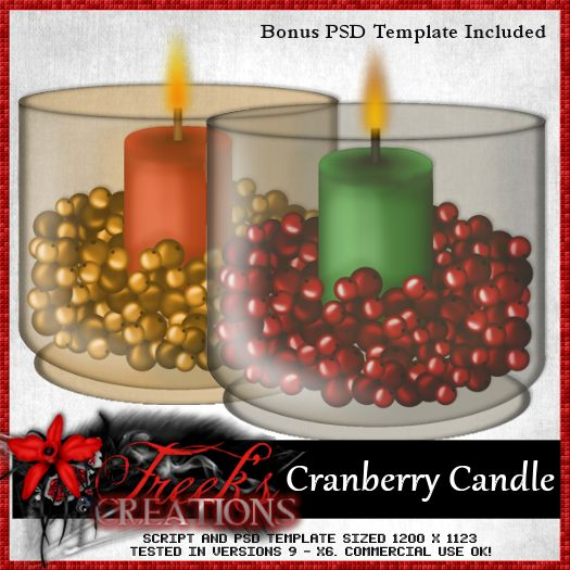 Cranberry Candle