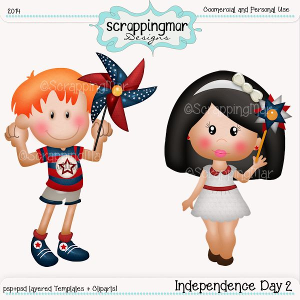 Independence Day 2 Templates-Cliparts
