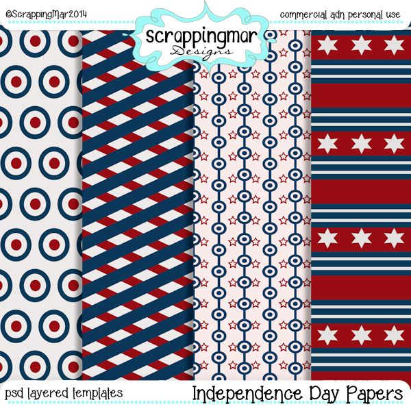 Independence Day Papers Templates