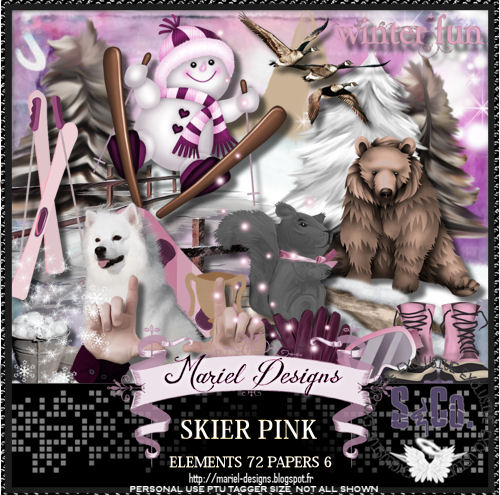 SKIER PINK ( match for Andy Cooper)