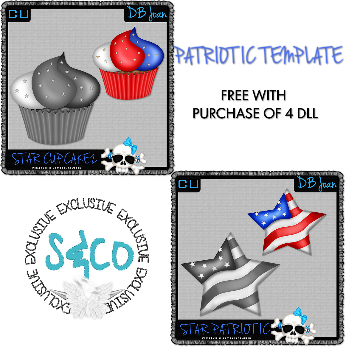 PATRIOTIC TEMPLATES DBJ