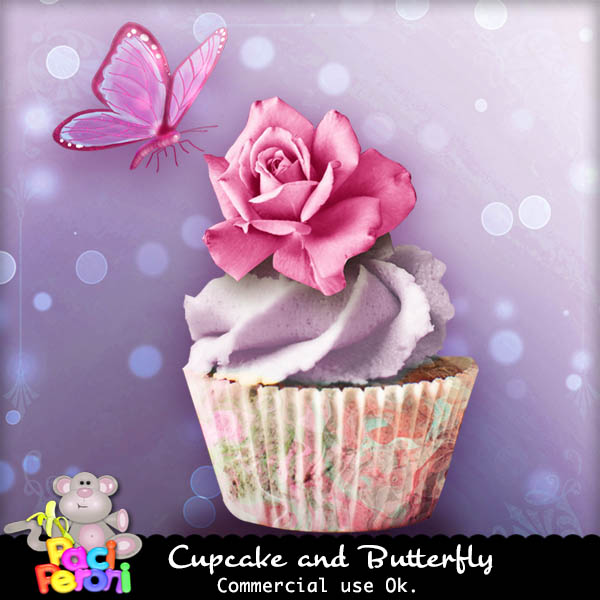 Cupcake and butterfly