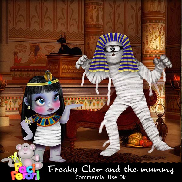 Freaky Cleo and the mummy