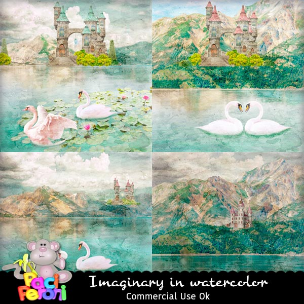 Imaginary in watercolor