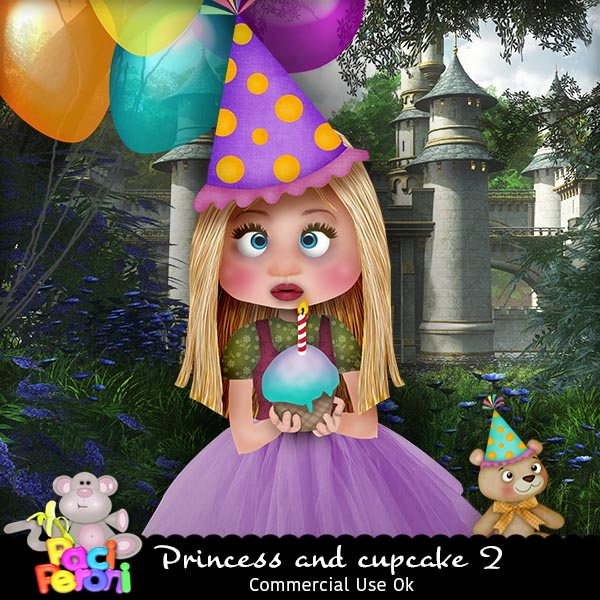 Princess and cupcake 2