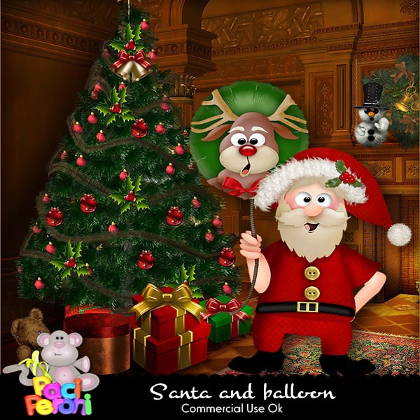 Santa and balloon