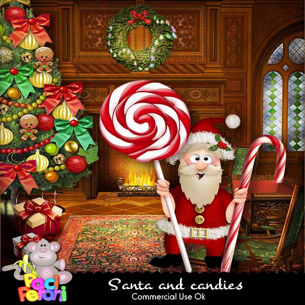 Santa and candies