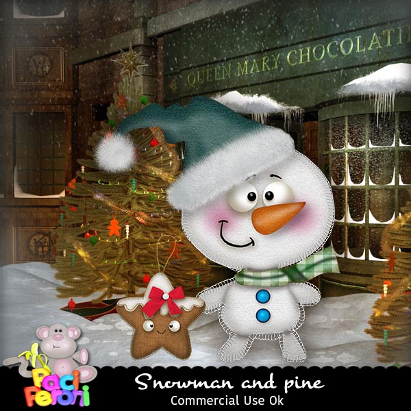 Snowman and star