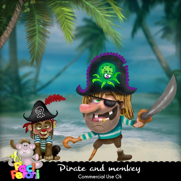 Pirate and monkey