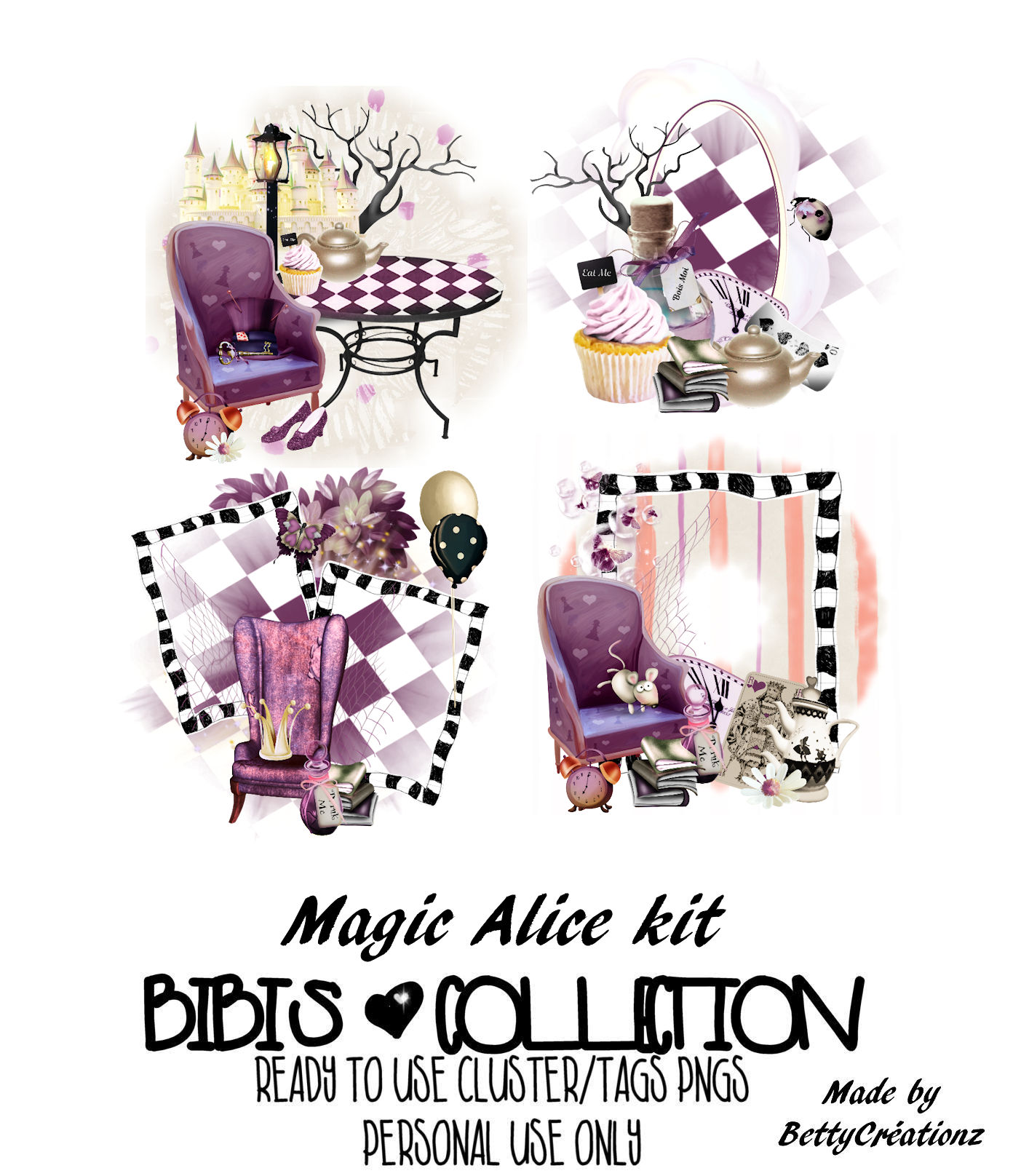 MAGIC ALICE READY CLUSTER TAGS PNG