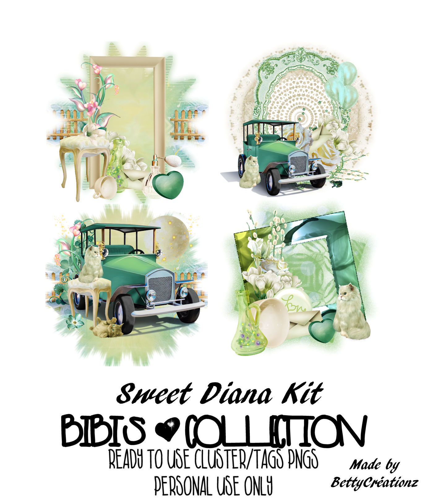 SWEET DIANA READY CLUSTER TAGS PNG