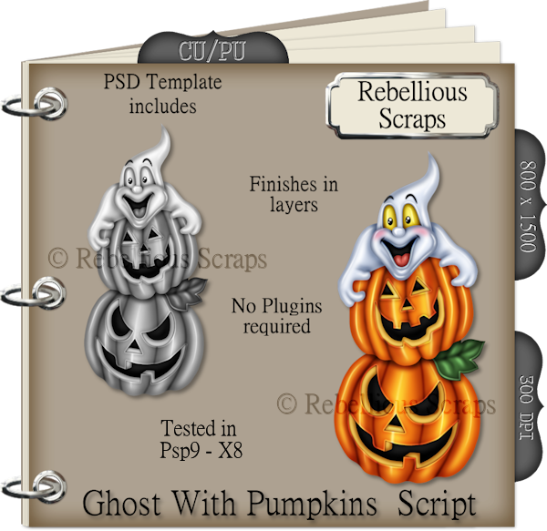 Ghost With Pumpkins Script