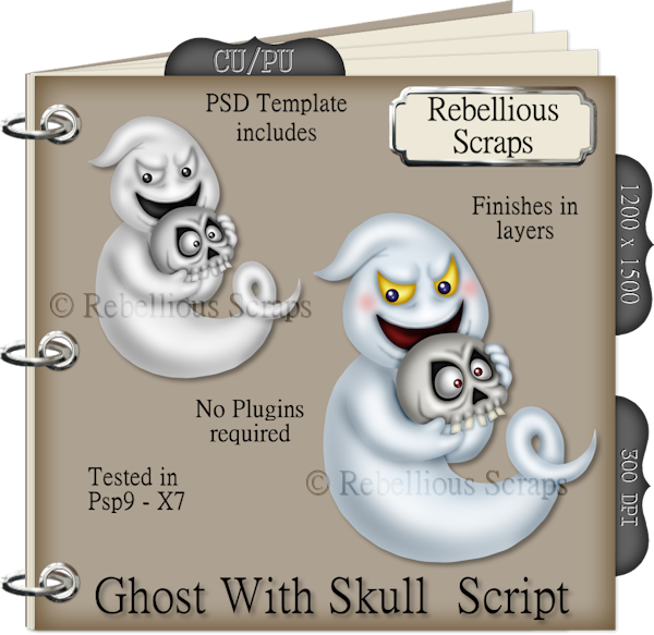 Ghost With Skull Script