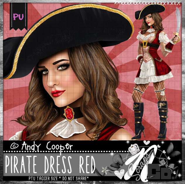 PIRATE DRESS RED