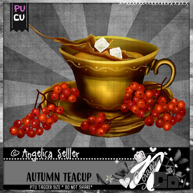 AUTUMN TEACUP CU PU TEMPLATE