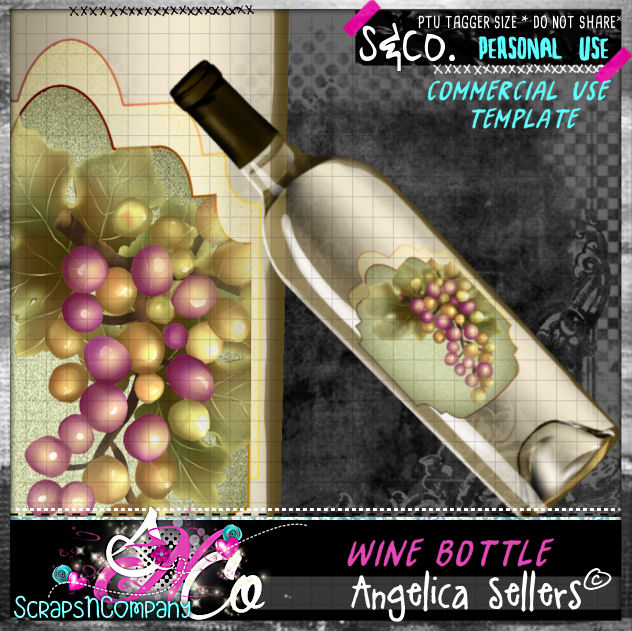 WINE BOTTLE TEMPLATE CU PU