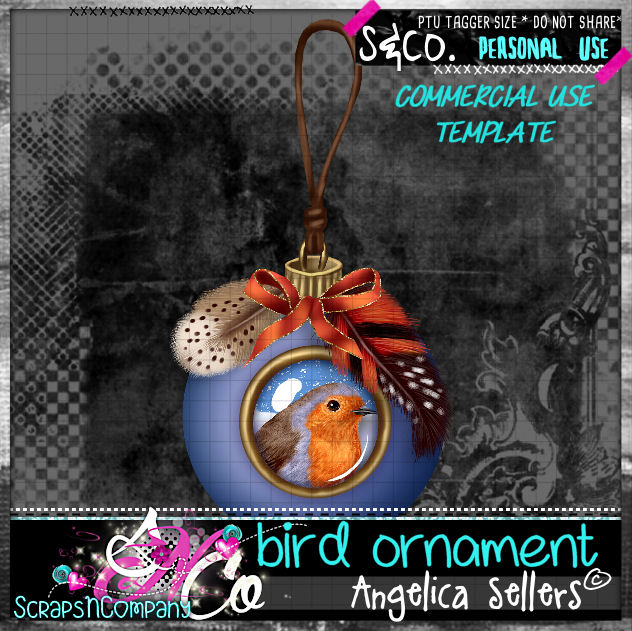 bird ornament template cu pu