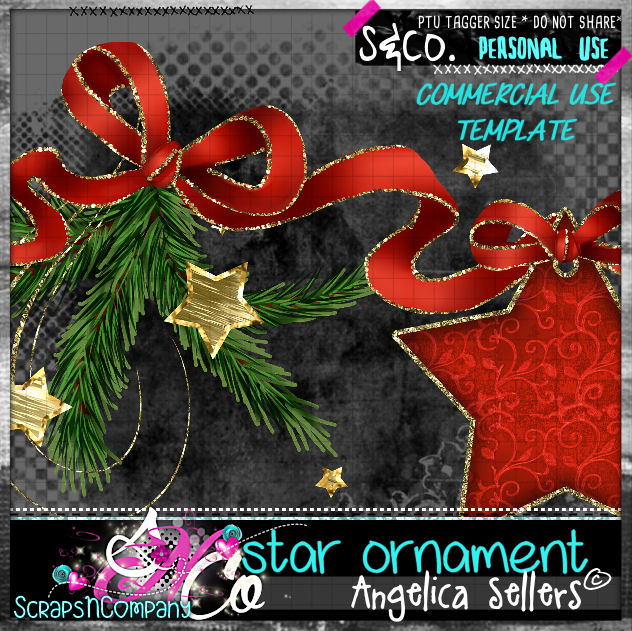 star ornament template cu pu