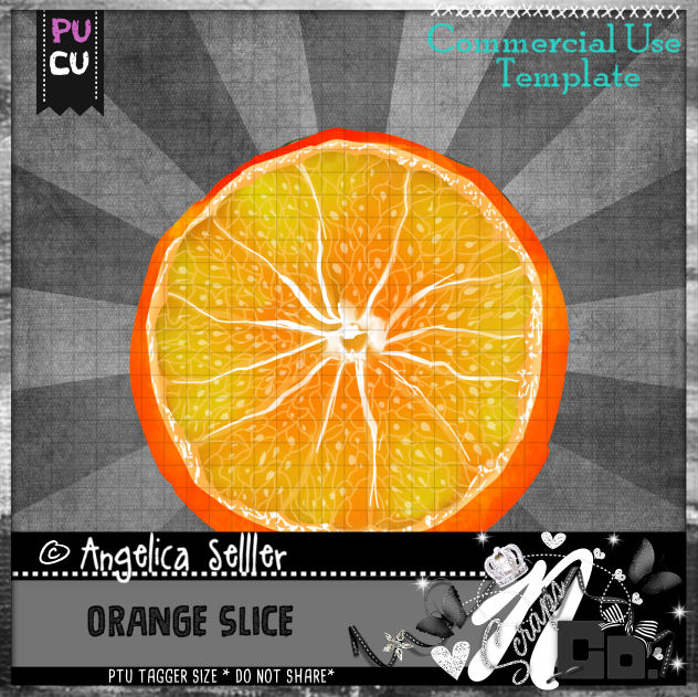 ORANGE SLICE TEMPLATE CU PU